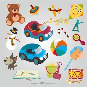 Colección de dibujos de juguetes