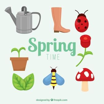 Colección de dibujos primaverales