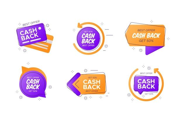 Colección de diferentes etiquetas de devolución