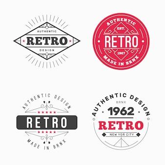 Colección de diferentes logos retro