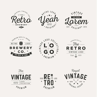 Colección de diferentes logos vintage.