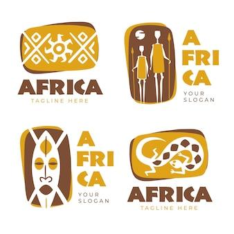 Colección de diferentes logotipos de áfrica.