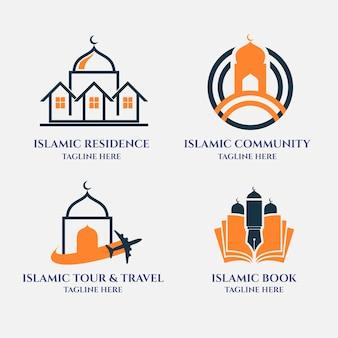 Colección de diferentes logotipos islámicos.