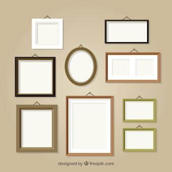 Colección de diferentes marcos de foto