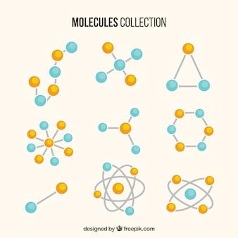 Colección de diferentes moléculas