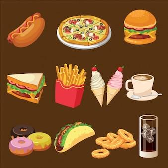 Colección de diseño de comida rápida