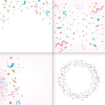 Colección de diseño de confeti colorido