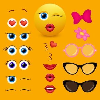 Colección de diseño de creador de emoji
