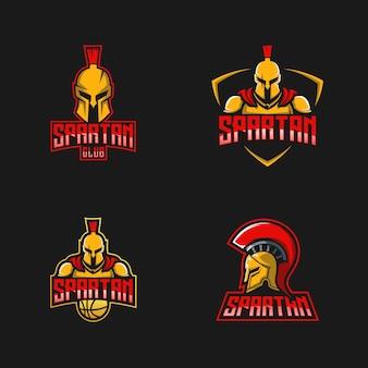 Colección de diseño de logotipo espartano