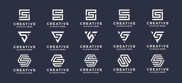 Colección diseño de logotipo letra s para marca personal, corporativa, empresa.