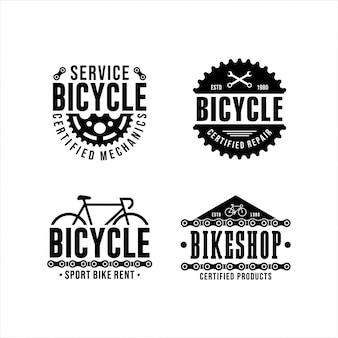 Colección de diseño de logotipos de servicio de bicicletas