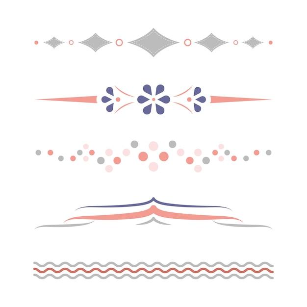 Colección de diseño pastel divisores.