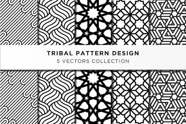Colección de diseño de patrones tribales