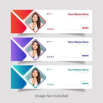 Colección de diseño de plantillas de firma de correo electrónico