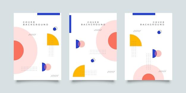 Colección de diseño de portada de memphis
