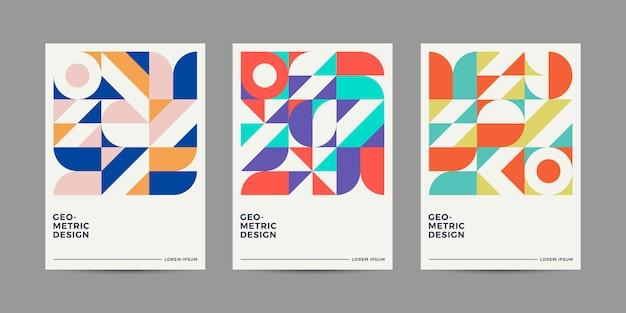 Colección de diseño de portada retro