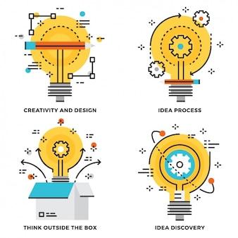 Colección de diseño de proceso de ideas