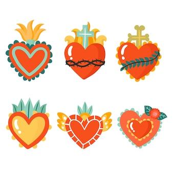 Colección de diseño sagrado corazón sagrado