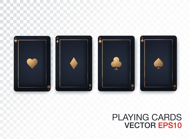 Colección de diseño de tarjeta de casino