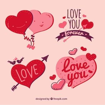 Colección de diseños de amor