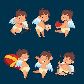 Colección de diseños de ángeles de amor