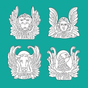 Colección de diseños de los apóstoles