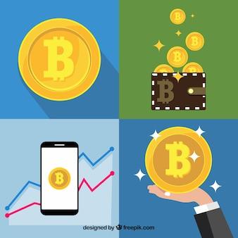 Colección de diseños de bitcoin