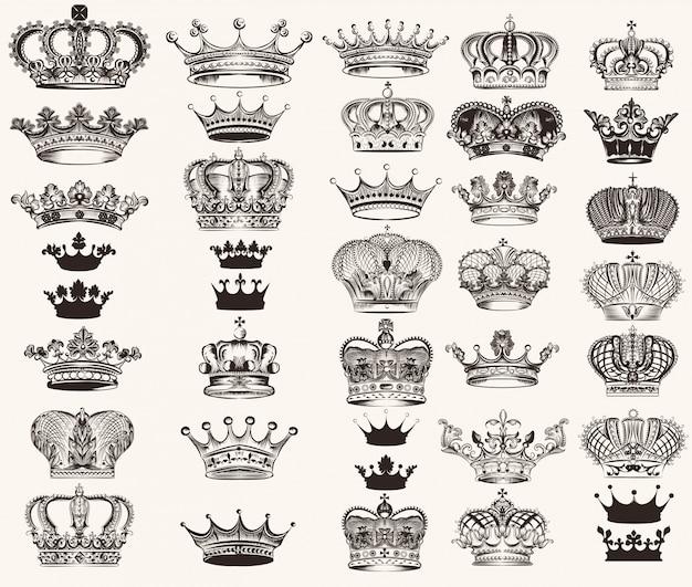 Colección de diseños de coronas