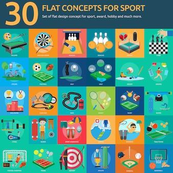 Colección de diseños de deporte