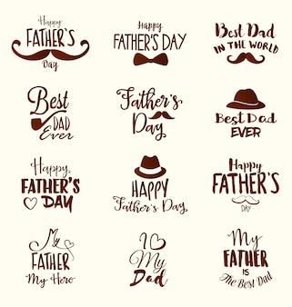 Colección de diseños del día del padre