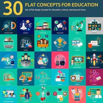 Colección de diseños de educación