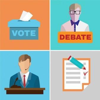 Colección de diseños de elecciones