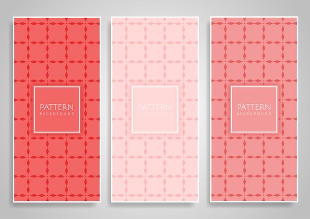 Colección de diseños de fondo vertical de color coral establecido