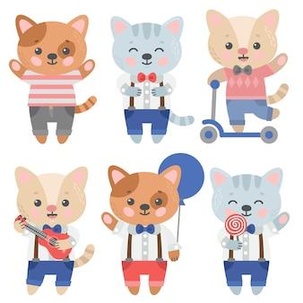 Colección de diseños de gatos