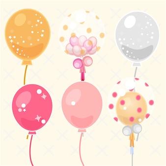 Colección de diseños de globos