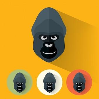 Colección de diseños de gorila