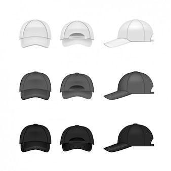 Colección de diseños de gorras