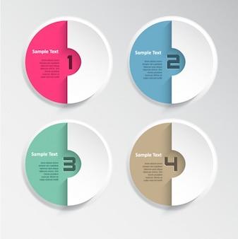 Colección de diseños de infografías modernas