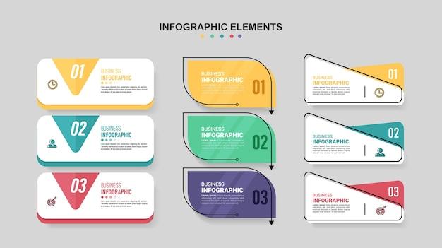 Colección de diseños infográficos