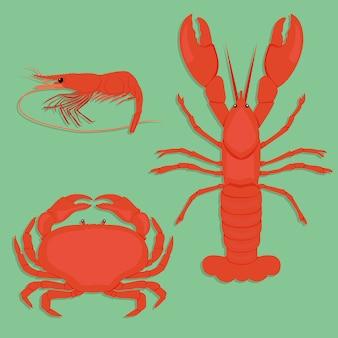 Colección de diseños de marisco