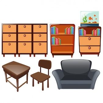 Colección de diseños de mobiliario