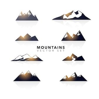 Colección de diseños de montaña