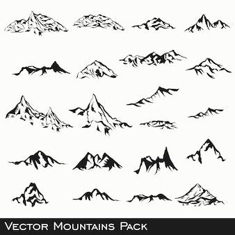 Colección de diseños de montañas
