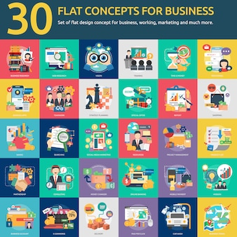 Colección de diseños de negocio