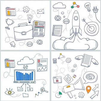 Colección de diseños de negocios