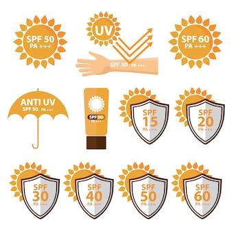 Colección de diseños de protección solar