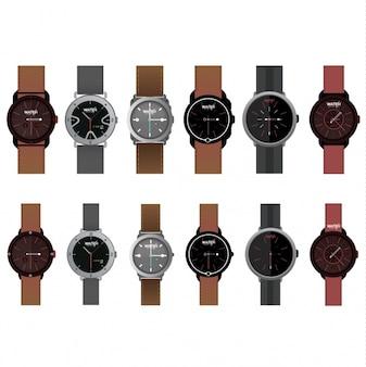 Colección de diseños de relojes