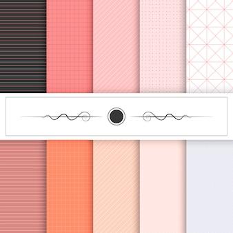 Colección de diseños de texturas vectoriales.