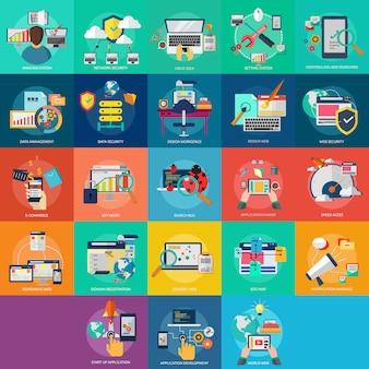 Colección de diseños de web
