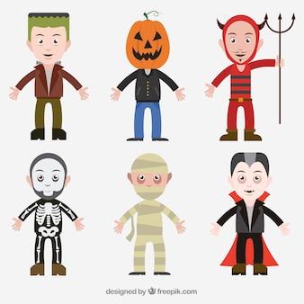 Colección de disfraces de halloween